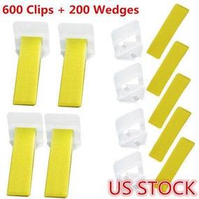 Clips De 600 + 200 Cuñas Separadores Azulejo Nivelación-3703