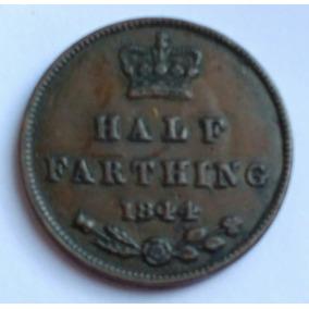 Moeda Britanica Half Farthing 1844