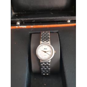 Mido Reloj De Dama Con Estuche Acero,chapa De Oro Mod.2465