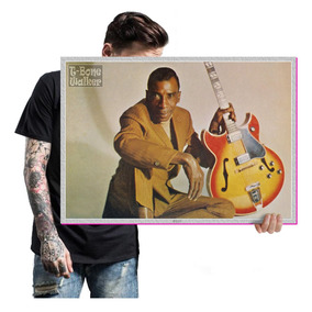 47fed1a427030 Quadro T-bone Walker Bandas De Blues Poster Tam. A2 04. R  57 05