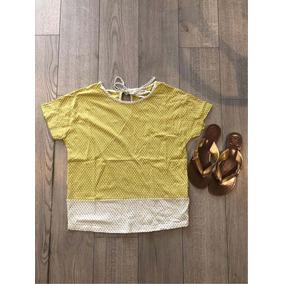 Blusa Casual Amarilla Lunares