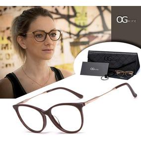 09dc875abfdb6 Oculos Oval De Metal Dourado - Óculos no Mercado Livre Brasil