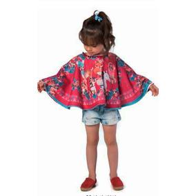 Mon Sucre Poncho Infantil Feminino Animais 3 4 Anos