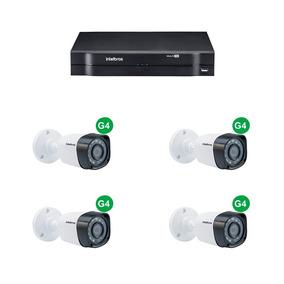 Kit Cftv Intelbras 04 Câmeras 1010b + Dvr Mhdx 1004