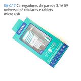 E5 M4 - Kit C/ 7 Carregador G55 3.1 V8 Micro Usb P/ Sony