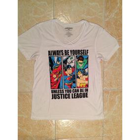 Dc Superman Batman Ww Playera Mujer Original Xs,s,m Y L