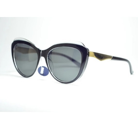 Óculos De Sol Preto Acetato Feminino Gatinho Polarizado Moda · R  129 96ff3cd5fc
