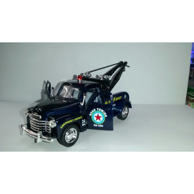 Miniatura De Metal Guincho Chevrolet Ano 1953 Azul