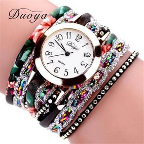 Relógio Feminino De Luxo Duoya