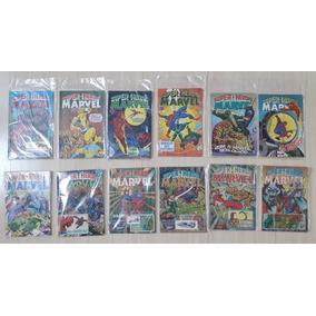 Lote 12 Revistas Super-heróis Marvel Rge Ótimo Estado Raras