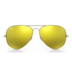 2f45ee953 2 Oculos De Sol Rayban Aviador Azul - Amarelo Original ( M )