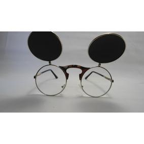 659ceaac88b4a Óculos Redondo Lente Dupla Sol Espelhada E Descanso