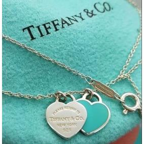 4e6b6002b94d2 Gargantilha Tiffany Duplo Coracao - Joias e Bijuterias no Mercado ...
