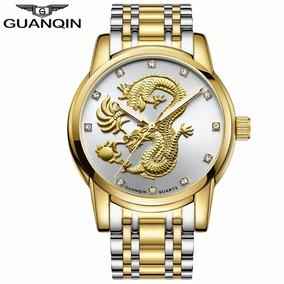 Relógio Masculino Guanqin Dragon Luxo Original Promoção!