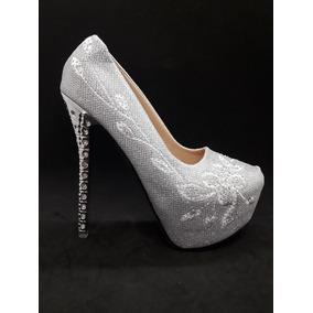 45bf30ec Zapatos Elegantes Para Egreso - Ropa y Accesorios Plateado en ...