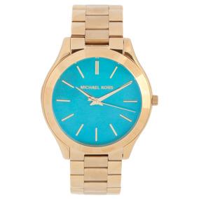 12fa7798794 Relógio Michael Kors Prata Fundo Azul Original - Relógios De Pulso ...