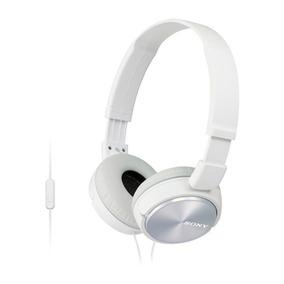 Fone De Ouvido Com Microfone Mdr Zx310 Branco Sony Original