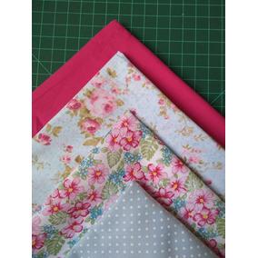 2e1b46a914 Retalho Tecido Tricoline Kit Floral Patchwork 14cortes 50x50 no Mercado  Livre Brasil