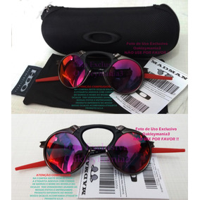 64fd431dd9e87 Madman Grafite Black Lente Dark Ruby + Case Porta Oculos Usa