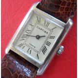 b5c1f51fd66 Relogio Antigo Cartier Paris Em Prata De Lei 925 - V E J A !