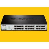 Switch D-link 24 Puertos ( Dgs-1024d ) 10/100/1000 Mbps ****