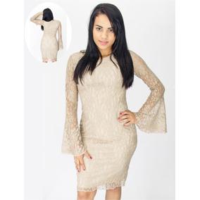 8f65073103 Vestido Renda Branco - Vestidos Femininas Marrom claro no Mercado ...