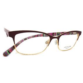 876c16ed9989a Armação De Óculos Feminino Atitude Vermelho - Óculos no Mercado ...