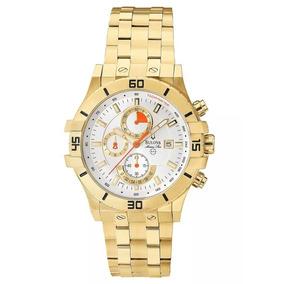 Relógio Masculino Bulova Analógico Wb30999h - Dourado