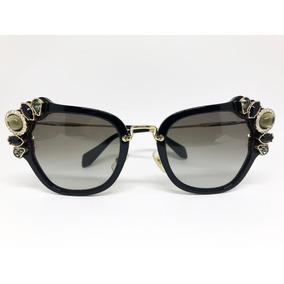 4eb1ab4708a6e Oculos De Sol Miu Miu Quadrado Preto - Óculos no Mercado Livre Brasil