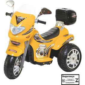 Moto Elétrica Infantil Sprint Turbo Amarelo 12v Biemme