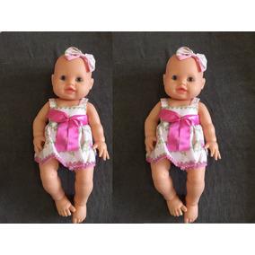 Kit 2 Boneca Bebê Molde Para Reborn Menina Anjo Barato
