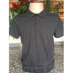 Camisa Polo Calvin Klein - Pólos Manga Curta Masculinas no Mercado ... 988ead13120ba