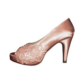 Zapatos 15 Años Novias Fabricación Por Pedido Guipiure Raso. 7 colores eac165245886