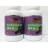 2 Semente De Uva 500mg - 120 Cápsulas 100% Puro