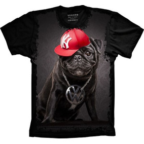 Camisa, Camiseta Psicodelicas Pug Rapper Top Personalizada