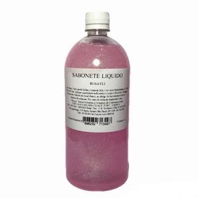 Kit C/ 4 Sabonete Liquido Com Glitter 1 Litro Varias Cores