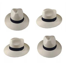 4 Chapéu Moda Panamá Aba Larga Clássico Masculino Feminino
