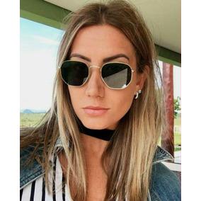 0d57cd077d32b Óculos De Sol Feminino Barato Hexagonal - Óculos no Mercado Livre Brasil