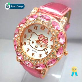 Relógio Infantil Hello Kitty Feminino Frete Grátis