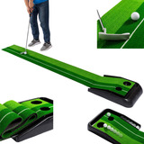 Golf Putter Tapete De Practica Sistema De Regreso Golf 2.43m