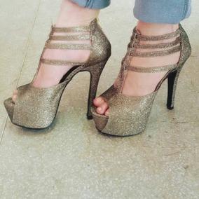 Sapatos Femininos Sandálias Festa Gliter