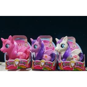 My Little Pony Juguete Niñas Figuras Goma 10cm Pony Set De 3