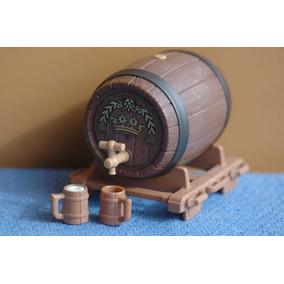 Playmobil 3627 Medieval Barril Grande De Cerveja Novo