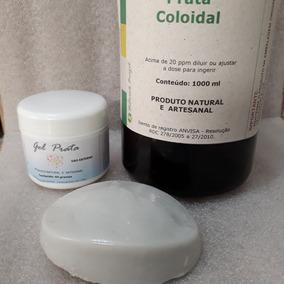 Prata Coloidal 1l 30 Ppm+ 1 Gel+ 1 Sabonete Naturals Brazil