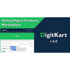 Digitkart V6.0 - Mercado De Produtos Digitais Multivendor