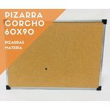 Pizarra Corcho 60x90 Con Borde Metálico