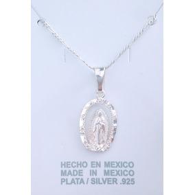 Dije Virgen Guadalupe Angelito Medalla Plata Ley 925