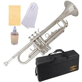 Trompeta De Laton Con Estuche Instrumento Musical Glory