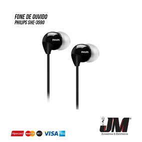 Fone De Ouvido Philips Intra-auricular She-3590bk