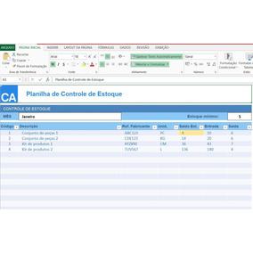 Planilha De Controle De Estoque (simples E Acessível)